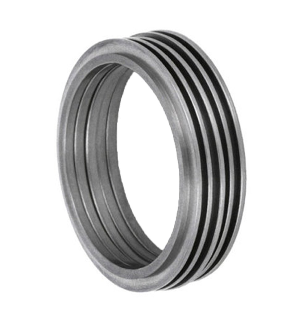 Modern Stack Rings 1mm Comfort Fit Brushed Titanium Band, Size 4.5