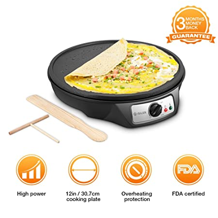 Review Electric Crepe Maker, iSiLER