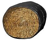 MS Home 6 ft. L Bale Sleeves Waterproof Cover Black, 25 Packs