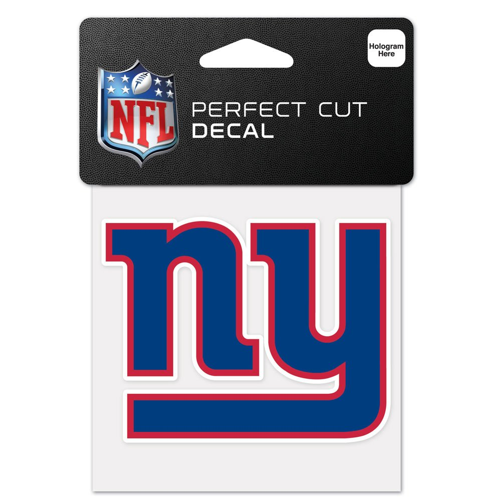 Wincraft NFL New York Giants 63059011 Perfect Cut Color Decal, 4'' x 4'', Black
