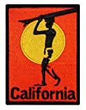 ''California'' Surfboard Beach Bum Wave Rider Ocean Surf Sew On Applique Patch