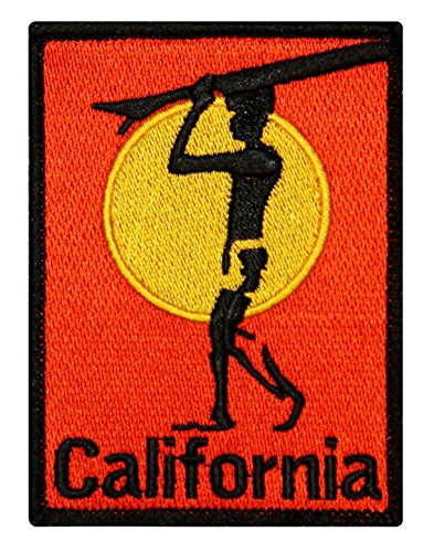 ''California'' Surfboard Beach Bum Wave Rider Ocean Surf Sew On Applique Patch by Mia_you