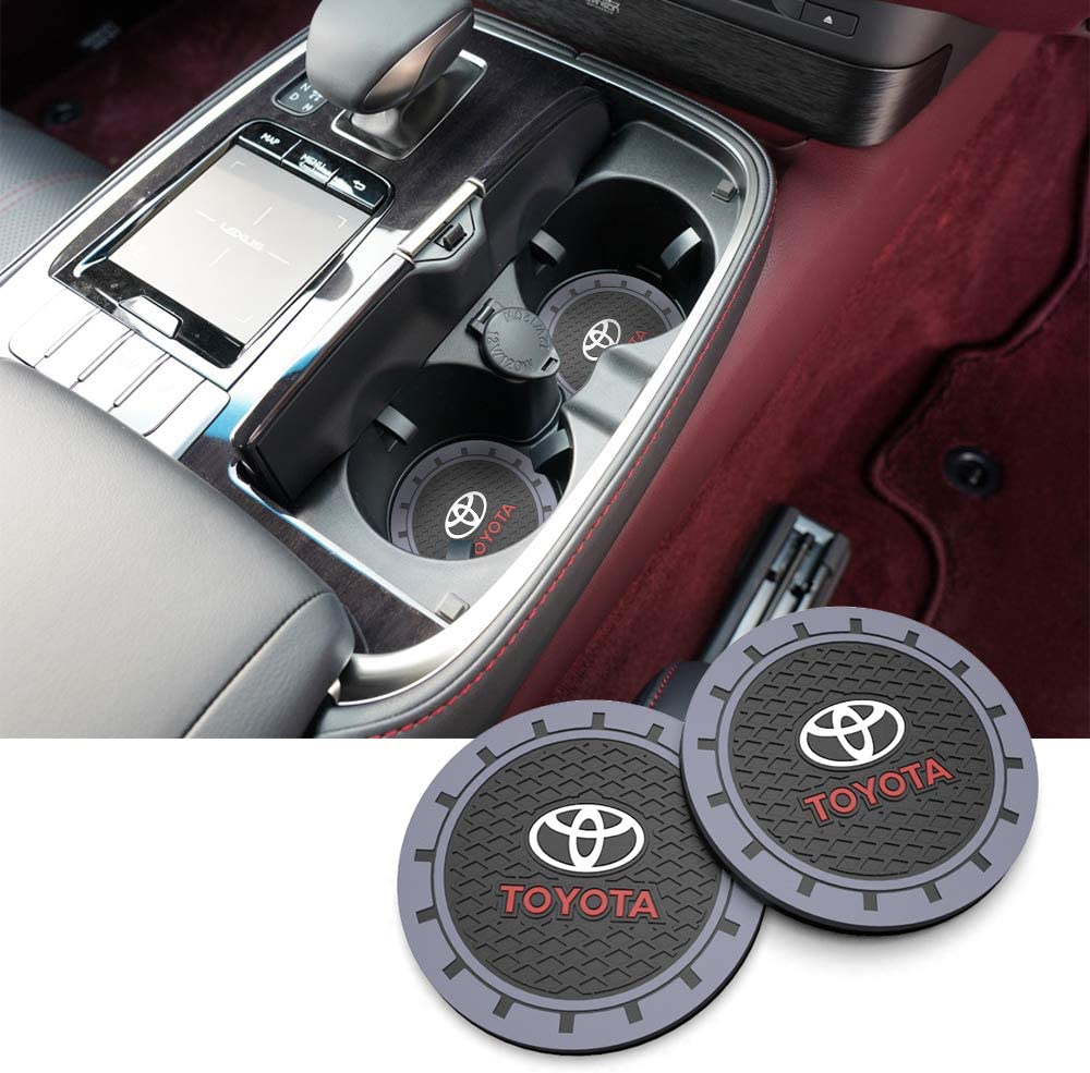 Car Coasters 2 Pack 3.0 Inch for Toyota Car Cup Holder Coasters for Car Coasters for women men for Toyota accessories for toyota 4runner accessories car accessories for women car accessories for men