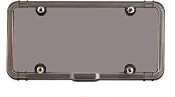 GOLD Frame for MERCEDES UNBREAKABLE Clear License Plate Shield Cover