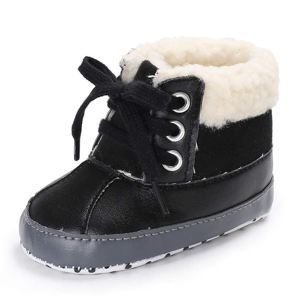 Newborn Baby Toddler Boys Warm Ankle Snow Boots Crib Shoes Anti-Slip Sneakers Pandaie Baby Boy /& Girl Shoes