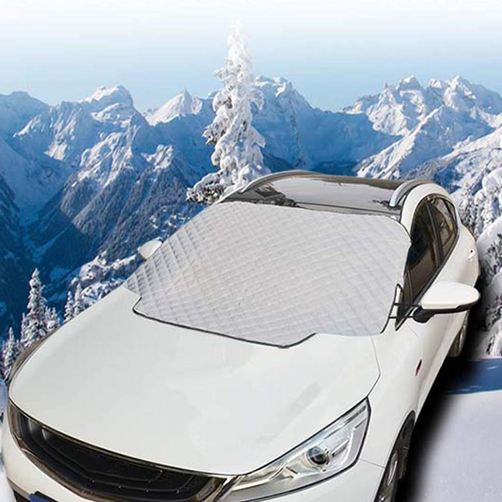 Cotton Thicker Windshield Winter Cover Fit for Most Cars DEBBD Car Windshield Snow Cover,Car Sunshades for Windshield with Magnetic Edges Snow