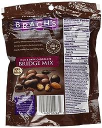 Brach\'s, Bridge Mix, Milk & Dark Chocolate now with Almonds, 8oz Bag (Pack of 3)