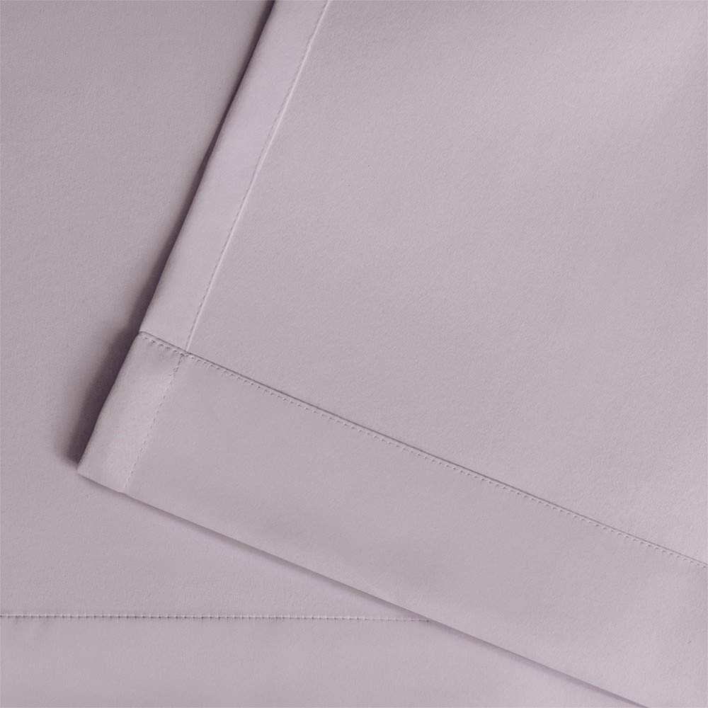 52x96 EK5308-03 2-96G Lilac Exclusive Home Sateen Twill Woven Blackout Grommet Top Curtain Panel Pair