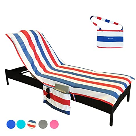 YOULERBU Beach Chair Cover, Patio Chaise Lounge Chair Covers For Pool  Outdoor Lounger Chairs And