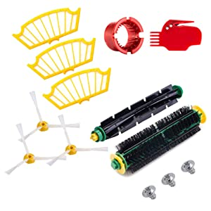 Neutop Replacement Parts Accessories Upgraded Kit for iRobot Roomba 500 Series 510 520 555 560 561 562 563 570 581 Robotic Vacuums.
