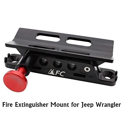 Adjustable Fire Extinguisher Holder Mount with 4 Clamps for Jeep Wrangler UTV Polaris RZR Ranger, Aluminum-1-year Warranty: Automotive