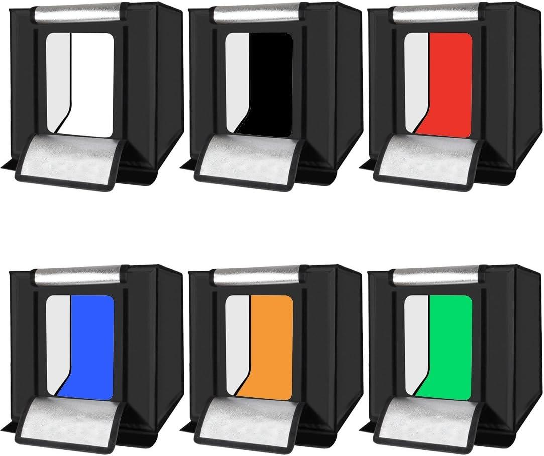CAOMING 6 PCS Collapsible Photography Studio Background Black, White, Red, Blue, Orange, Green 6 Colors Size: 80cm x 40cm Durable