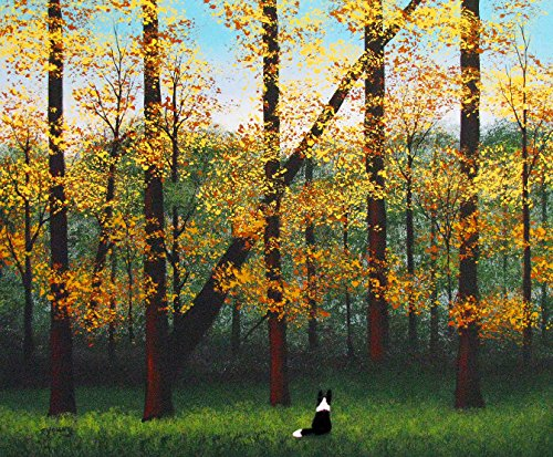 Border Collie Dog Art print by Todd Young EARLY FALL ()