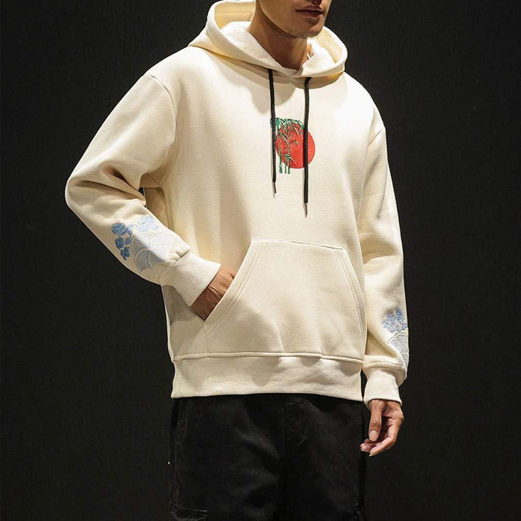 Alalaso Mens Pullover Hoodie Graphic Hooded Activewear Sweatshirt Beige Mens Fleece Pullover Hoodie