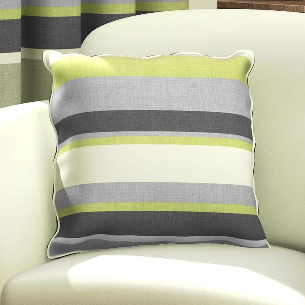 Tony's Textiles Striped Cushion Cover - Red Black Cream (Standard) Tony's Textiles
