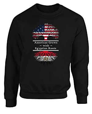 American Grown With Egyptian Roots Great Gifts Egypt - Adult Sweatshirt
