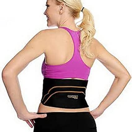 1d86b4128bc Amazon.com  Copper Fit Back Pro As Seen On TV Compression Lower Back Support  Belt Lumbar (Small Medium Waist 28