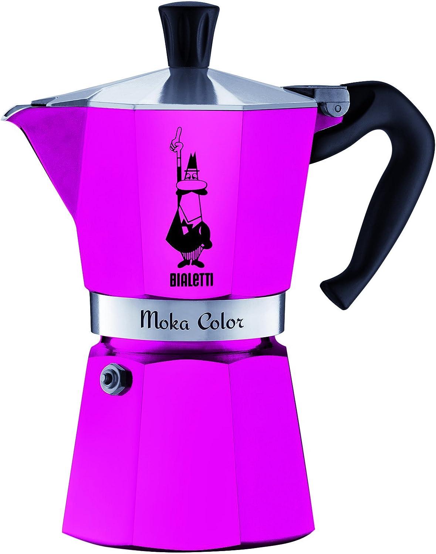 Bialetti Moka Express Color 0.3L Rosa - cafeteras italianas (Aluminio, Rosa, Moka Color): Amazon.es: Hogar