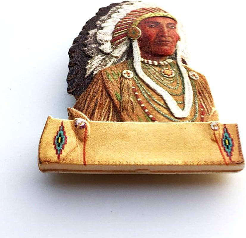 im/án magn/ético para nevera Im/án para nevera en 3D de la India americana para decoraci/ón del hogar y la cocina