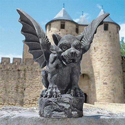 (Design Toscano Florentine Gargoyle Gothic Decor Statue, Large 12 Inch, Polyresin,)