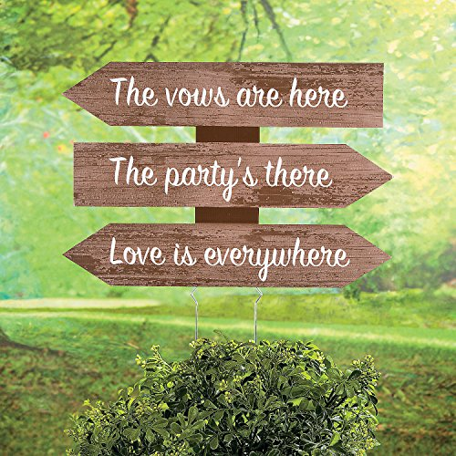 Fun Express Love Is Everywhere Directional Wedding Sign ()