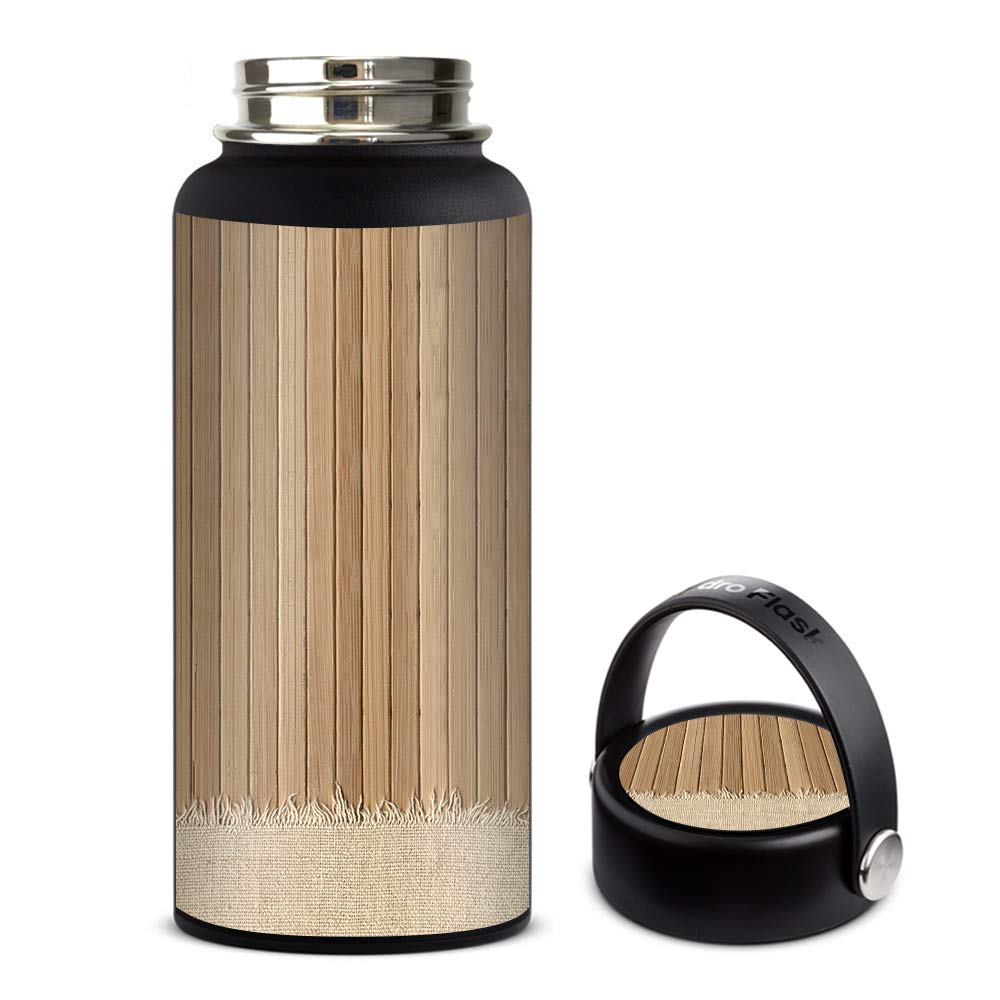 Skin Decal Vinyl Wrap for Hydro Flask 32oz Wide Mouth stickers skins cover/Wood Floor2