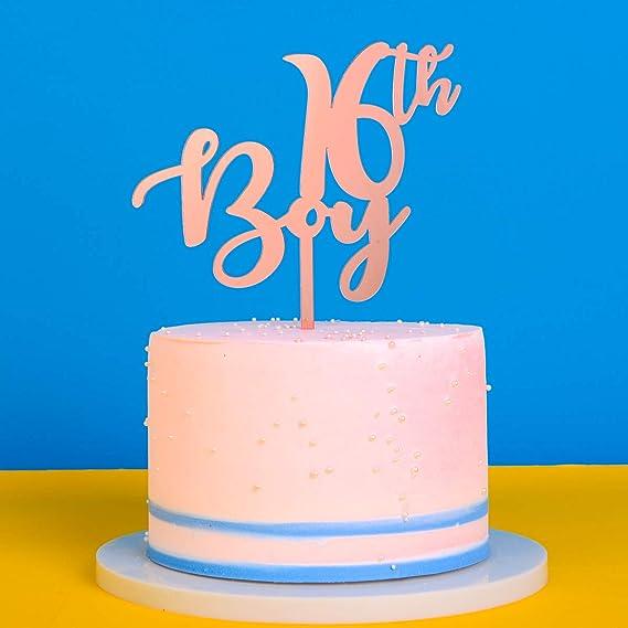 Wondrous 16Th Birthday Cake Topper For Boy Perfect Touch For 16Th Birthday Funny Birthday Cards Online Benoljebrpdamsfinfo