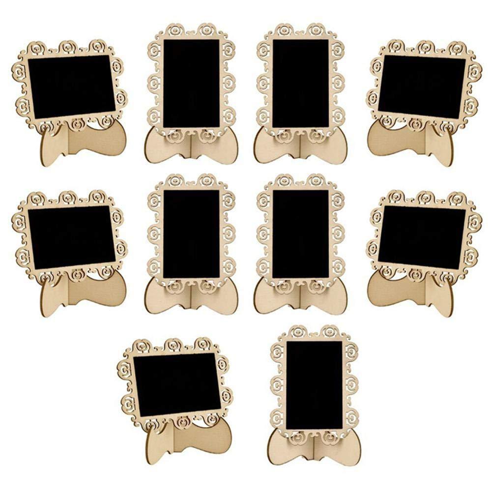 Lavagne Perfette Rettangolari Cancellabili per Menu sul Tavolo Ottima Bacheca per Matrimoni E Feste di Compleanno 10 PC Mini Insegne per Lavagna Mini Lavagne con Supporto