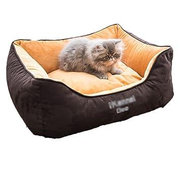 Deluxe Cama Cuadrada, Lavable Cesta para Mascotas Cama para Mascotas reforzar Nido para Mascotas Cama del Gato del Animal doméstico-B Grande: Amazon.es: ...