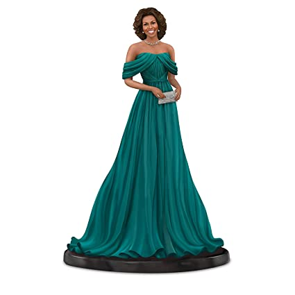 4628e4f35 Amazon.com: Keith Mallett Michelle Obama Teal Gown Figurine With Swarovski  Crystals by The Hamilton Collection: Home & Kitchen