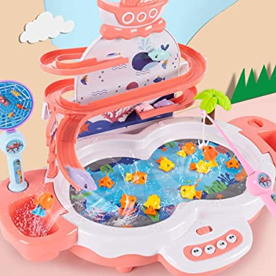 Lihgfw Children's Fishing Toys Playing Baby Puzzle Boy and Girl Early Education Multifunctional Electric Fishing Toys Parent-Child Interactive Game: Sports & Outdoors
