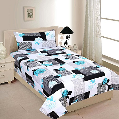 Zesture Bring Home 100 % cotton Premium collection single bedsheet with 1 Pillow cover -(142 x 230