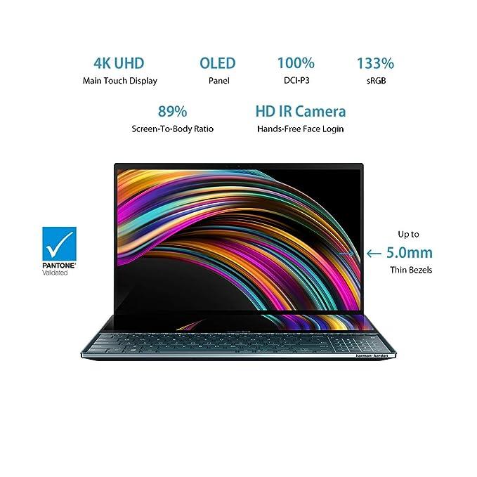 "ASUS ZenBook Pro Duo Intel Core i7-10750H 10th Gen 15.6"" Touchscreen Laptop"
