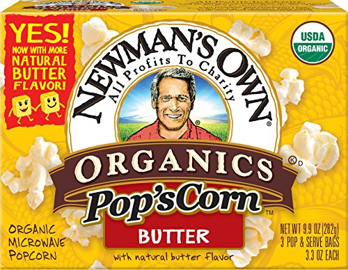 NEWMANS OWN ORGANIC POPCORN MICRO BUTTER ORG, 9.9 OZ