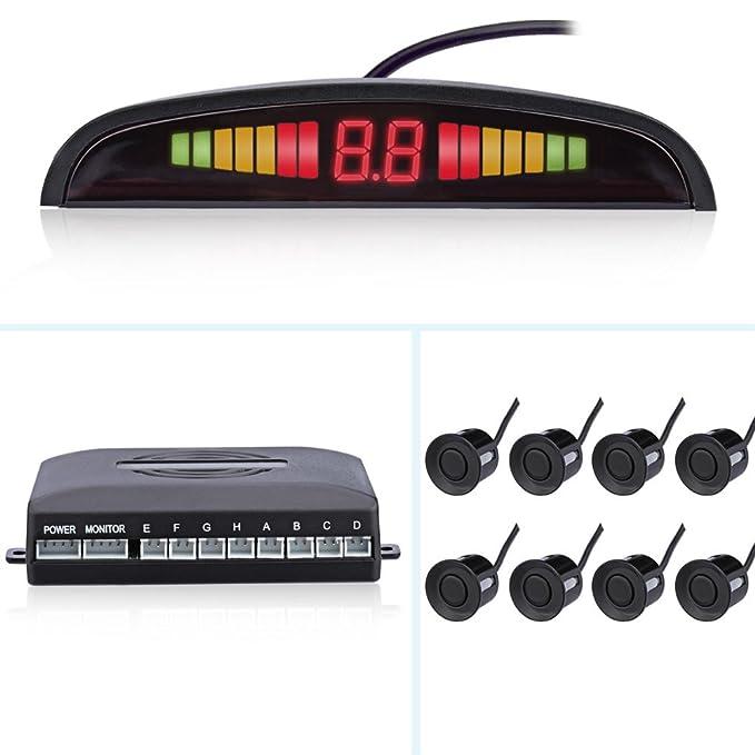 Auto Parktronic pantalla LED Reverse Backup Sistema de Radar de aparcamiento de coche Monitor Detector con