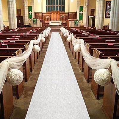 Healon Aisle Runner 100 x 3 ft Aisle Runner Wedding with Print and Pull String