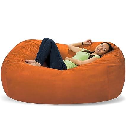 Tremendous Comfy Sacks 6 Ft Lounger Memory Foam Bean Bag Chair Tangerine Micro Suede Alphanode Cool Chair Designs And Ideas Alphanodeonline