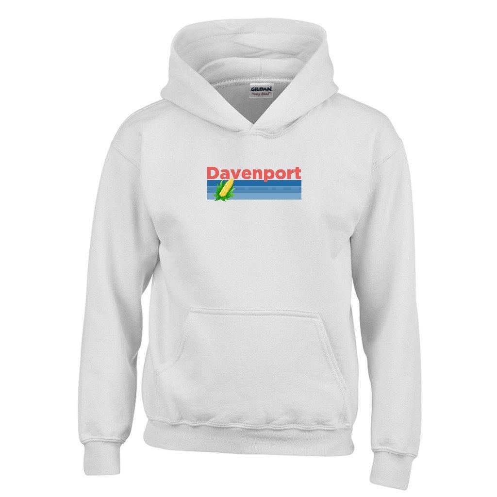 Tenn Street Goods Davenport Retro Corn /& Farm Youth Hoodie Iowa Kids Sweatshirt
