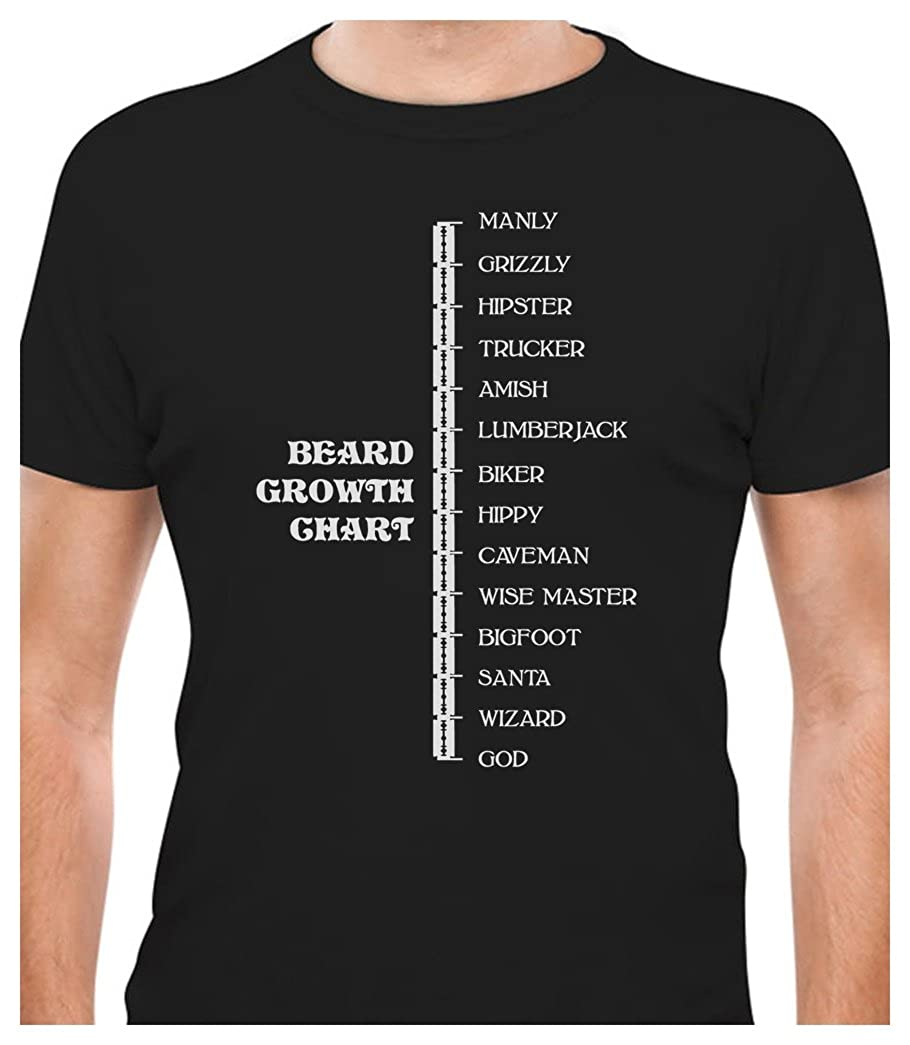 Tstars - Beard Length Ruler Funny Growth Chart Manly - Scale T-Shirt GM03aZgW