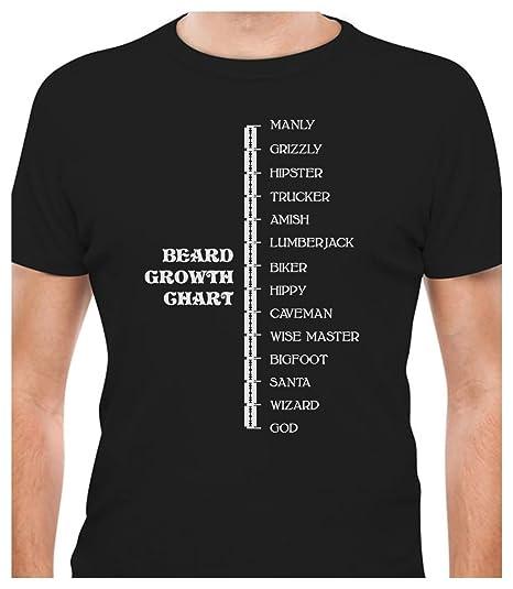 Amazon Tstars Beard Growth Chart Funny Manly God Scale Gift