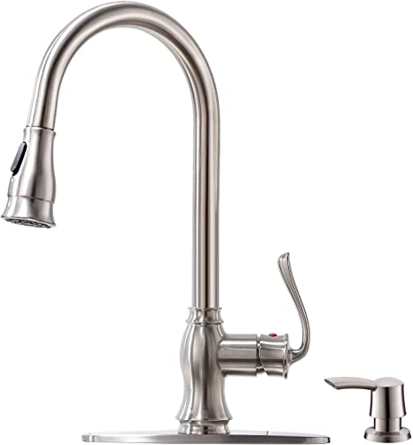 PVD Satin New Style Kitchen Sink Hose Spray with Hose /& Guide Nickel brushed