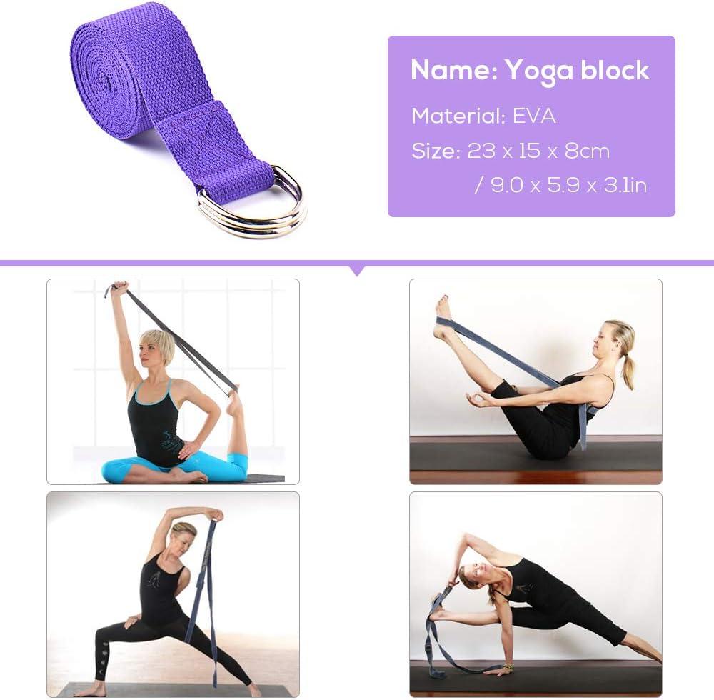Amazon.com: Lixada - Juego de 5 piezas de sillas de yoga ...