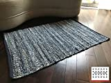 LOOMAGE INDIA Denim rug【Japan Produce】24.8×36.6inch