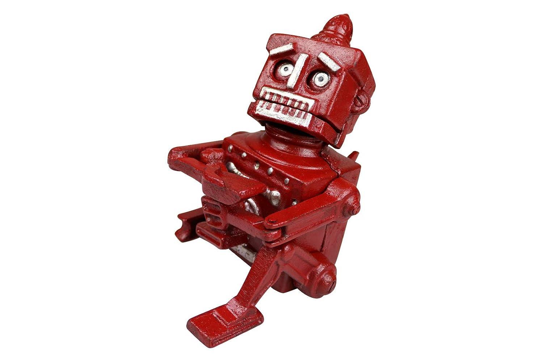 MandyTools Hubley Robert The Roboter 1950 Spardose aus Gusseisen, Rot