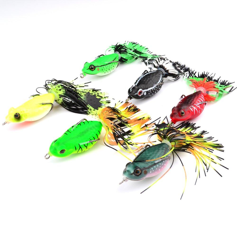 XuBa 6.35 cm/20g utile morbido esca rana esche da pesca con nappa Tail Crankbaits per Bass Snakehead random Colors help Get more Fish