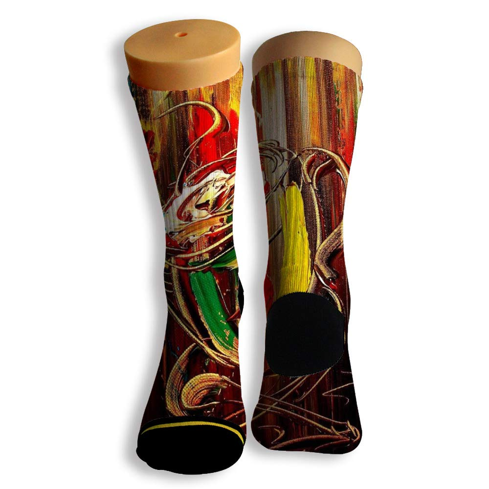 Basketball Soccer Baseball Socks by Potooy Coffee Drink Poster 3D Print Cushion Athletic Crew Socks for Men Women