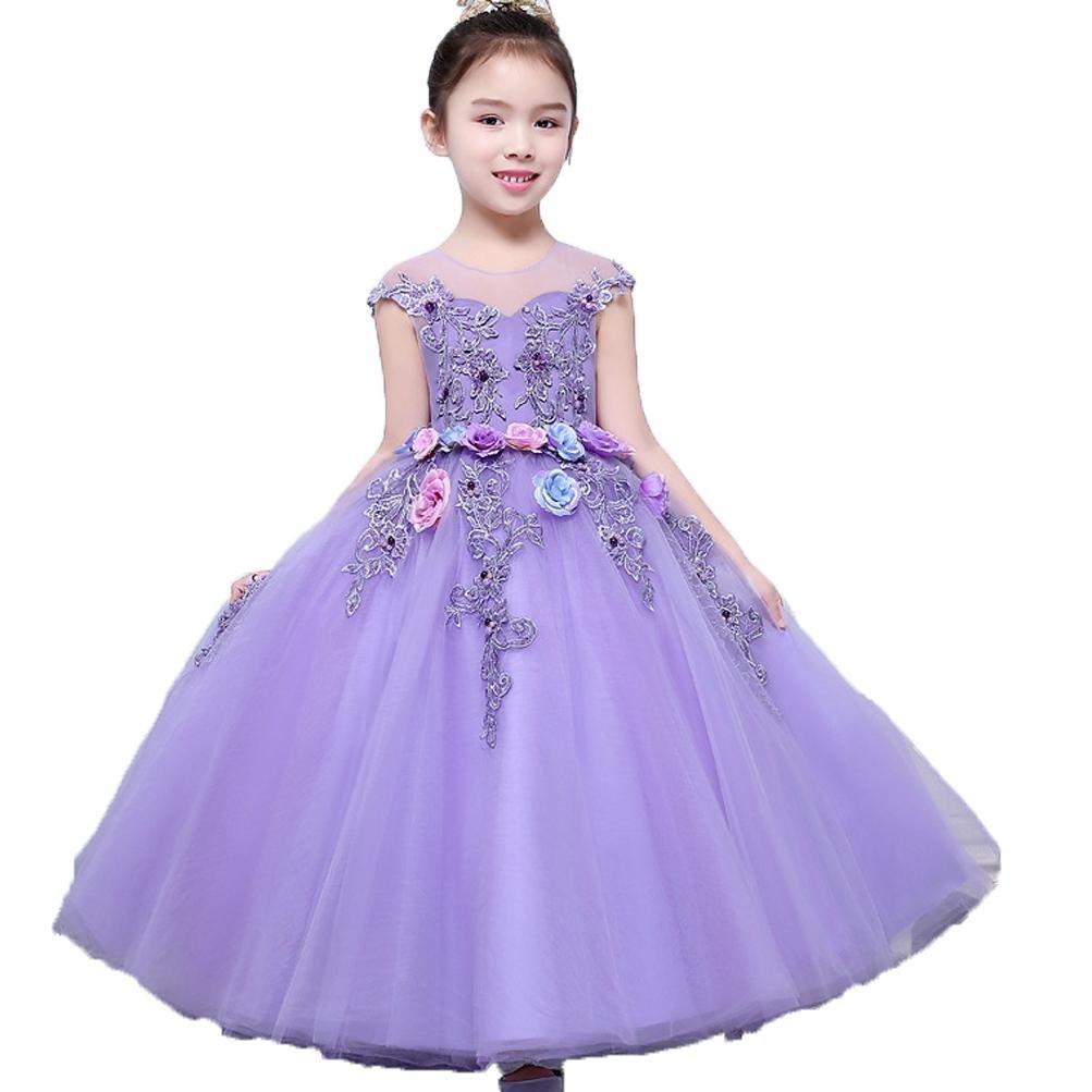 Vestidos de Noche para Niñas Tutu Princesa Skit Fiesta de Cumpleaños ...