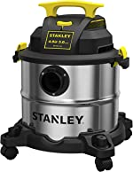 STANLEY Wet/Dry Vacuum SL18115, Stainless Steel Tank, 5 Gallon 4HP Shop