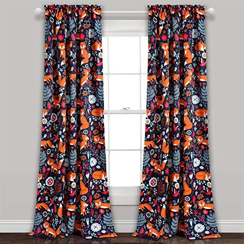 Lush Decor Lush D cor Pixie Fox Room Darkening Window Curtain Panel Pair