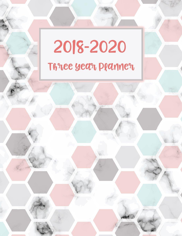 2018-2020 Three Year Planner: 36 Months 3Years Calendar Yearly Goals Monthly Task Checklist Organizer Agenda Schedule Logbook Appointment with Dot Journal Notebook 8.5x11 (Volume 4) ebook